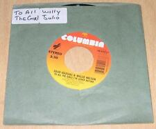 JULIO IGLESIAS & WILLIE NELSON - To All the Girls I've Loved (45 RPM Single) NM-