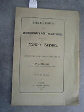 J. Stilling Inneren incision Monoyer ophtalmologie optique médecine