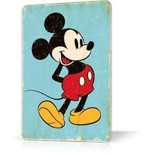 METAL TIN SIGN MICKEY MOUSE Vintage Retro Decor Home Bar Pub Garage Wall Poster