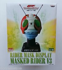 Masked Kamen Rider Original No.3 V3 Head Helmet Mask Display 1/2 Scale BANPRESTO