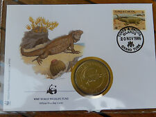 Numisbrief  WWF 1986 Turks & Caicos Islands   Ohn Crown Leguan