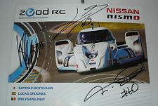 Le Mans 2014 - FIA WEC Du Mans - Rare Nissan Nismo ZEOD RC Drivers Signed Card