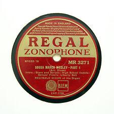 """REGINALD DIXON (Organ) """"Sousa March Medley"""" REGAL ZONOPHONE MR-3271 [78 RPM]"""