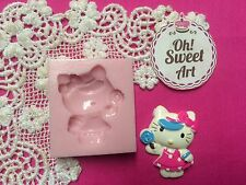 Hello Kitty Happy Silicone Mold Food  topper Safe Cake Decoration Cupcake(FDA)