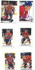 1991 Pro Set #130 Guy Carbonneau Montreal Canadiens Signed Autographed Card
