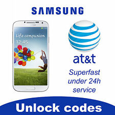 UNLOCK SERVICE/CODE FOR AT&T SAMSUNG GALAXY S2,S3,S4 NOTE 2,3 CLEAN IMEI
