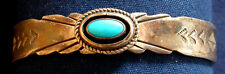 NAVAJO RAY BENNETT, STERLING SILVER, TURQUOISE CAB, LADY'S VINTAGE BRACELET