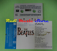 MC THE BEATLES 20 greatest hits 1982 italy PARLOPHONE 64 1076744 no cd lp dvd
