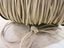 10 yard Genuine Leather Suede Cord 3mm Trim/Trimming/Sewing/Bow/Cream T163-Beige