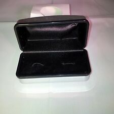 Chrome Cufflinks Box - Replacement Plastic & Material Cuff Links Box