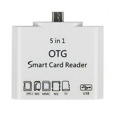 5 in 1 OTG Card Reader Connection Kit For Micro USB Android Cellphones HR