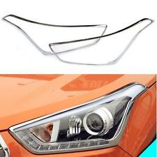 2 Pcs/Set Front Head Light Frame Lamp Cover ABS For Hyundai IX25 Creta 2015