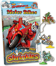 25 MOTOR BIKE Abbellimenti RACING SHRINKLES SHRINKIE SHRINK ART PARAURTI BOX SET