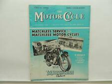 August 1954 THE MOTORCYCLE Magazine Matchless Clubman Model G80 L8659