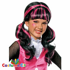 Child's Girl's Official Monster High Draculaura Vampire Fancy Dress Hair Wig