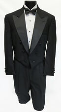 40XL Mens Black 100% Wool Chaps Fulldress 6 Button Tuxedo Tailcoat Made In USA