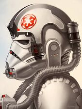 Mike Mitchell AT-AT Driver Portrait Star Wars Empire Mondo Print Poster