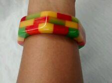 Stunning Shultz Bakelite  candy colors  bracelet