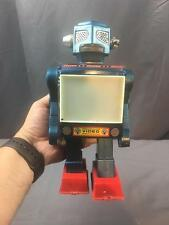 Vintage 1960's Horikawa Video Walking Tin blue Robot