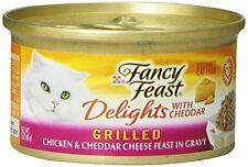 Fancy Feast Wet Cat Food, Delights with Cheddar, Grilled Chicken and Cheddar Che