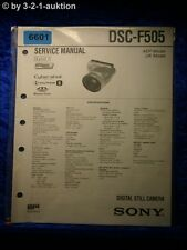 Sony Service Manual DSC F505 Level 1 Digital Still Camera (#6601)