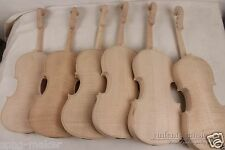 4 pcs violin flame maple back ,Russian spruce top  New 4/4 unfinished