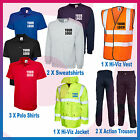 Personalised Embroidered Hi Viz Workwear Package - Polos, Sweats,Jacket,Trousers