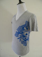 DIESEL V Neck Gray Project 78 Liquid Space Blue Submarine Graphic T Shirt M