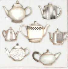 20 Paper Napkins JUGS Decoration Vintage Kitchen Cup Coffee Decoupage 33x33cm