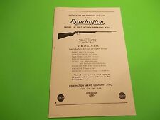 Remington Model 341 SPORTMASTER OWNER'S Instructions for Operation and Care