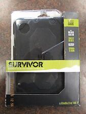 "Griffin GB36274 Survivor Case Stand for 7"" Kindle Fire HD 2012 Model (Black) NEW"
