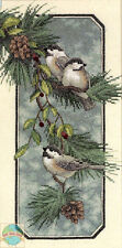 Cross Stitch Kit ~ Dimensions Winter Chickadees Birds Branch & Pinecones #3199