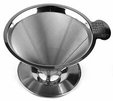 Premium Pour Over Coffee Dripper Professional Grade 304 Stainless Steel Drip ...