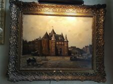 Antique Cornelis de Bruin Framed Dutch Oil on Canvas Painting