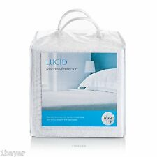 Lucid Bedroom Waterproof Mattress Pad Bed Cotton Cover Protector King Size