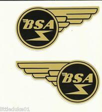 """""""BSA WING SET"""" VINYL DECAL / STICKER NORTON TRIUMPH MOTORCYCLE WORKSHOP ARIEL !!"""