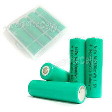 8 pcs 2800mWh 1.6V AA 2A NiZn Rechargeable Battery + 2 pcs AA/AAA Holder Case