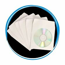 500 CD DVD R Paper Sleeve Envelope Window & Flap 80g FREE Expedited Shipping