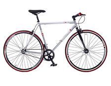 REDEMPTION MENS 700C WHEEL FIXIE 56CM FRAME SINGLE SPEED FIXED WHEEL BIKE SILVER