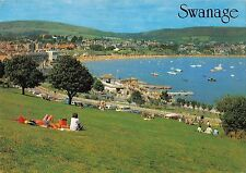 B099982 swanage from the downs   uk