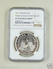 Canada Silver Coin 1 Dollar 2011, $1 - 100th Anniv. National Parks, NGC PF 70