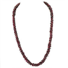 EXCLUSIVE AAA 490.00 CTS NATURAL UNTREATED RED GARNET BEADS NECKLACE - BIG DEAL