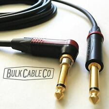 MOGAMI 15 FT PRO GUITAR CABLE - RIGHT ANGLE NEUTRIK SILENT PLUG - W2524 CABLE