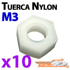 10x Tuerca nylon M3 blanco estrella electrónica Arduino