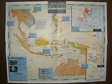 IMAGES OF WAR WWII CAMPAIGN MAP LIBERATING THE FAR EAST 1945 TO 1954