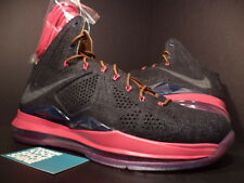 Nike Air Max LEBRON X 10 EXT DENIM QS NAVY BLUE HAZELNUT FIREBERRY PINK DS 10.5