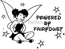 8x6 inches tinkerbell  powered by fairydust  girls vinyl decal car sticker funny