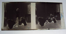 "2 Negatives Nudes Artist Studio Interior !940's-50's Poses 2 1/4"" x 2 1/4""  E"