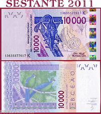 WEST AFRICAN STATES -  SENEGAL -  10000 10.000 FRANCS 2013   P 718K new  FDS/UNC