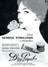 ▬► PUBLICITE ADVERTISING AD DR N. G. PAYOT Nutricia Stimulation 1960